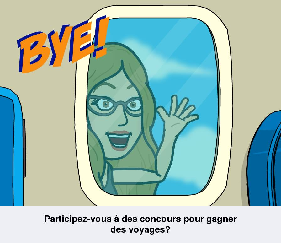 Edith Jolicoeur concours avion bye