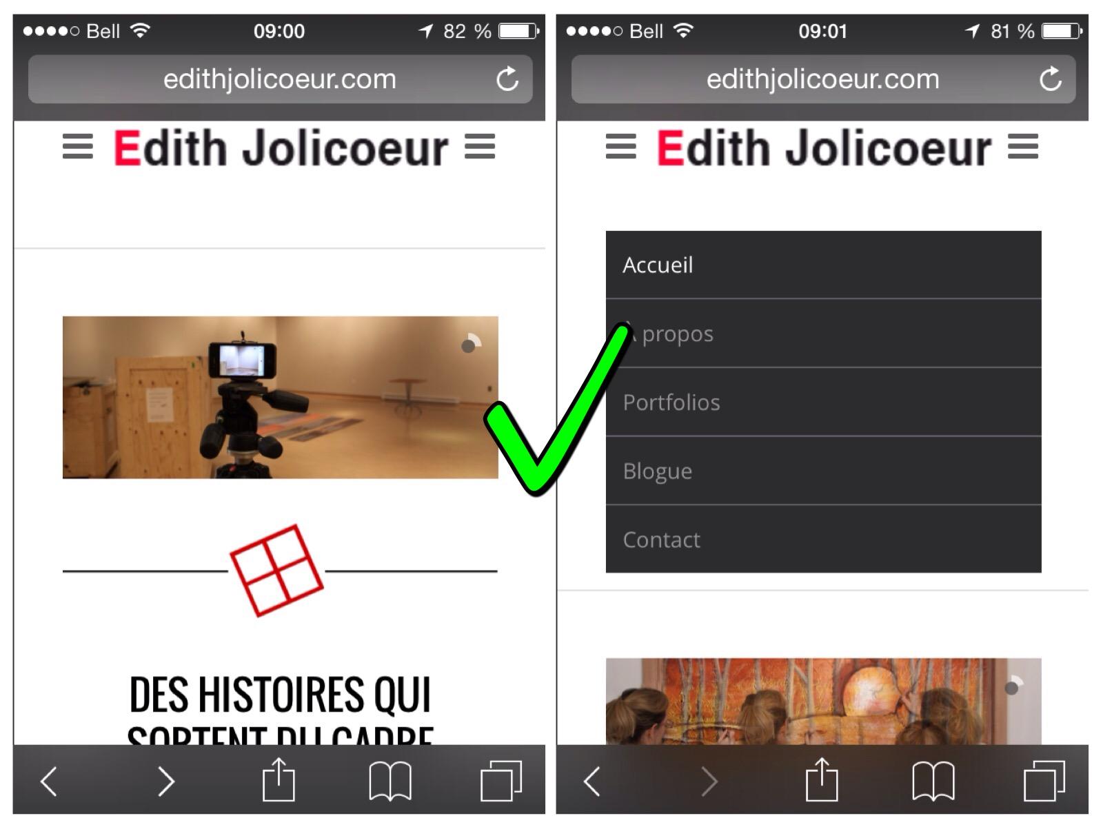 Capture d'écran site Responsive Edith Jolicoeur
