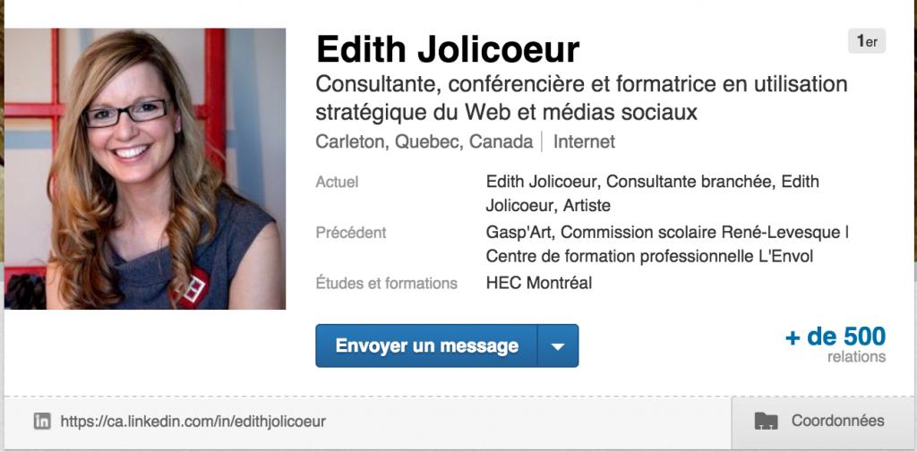 Edith Jolicoeur LinkedIn
