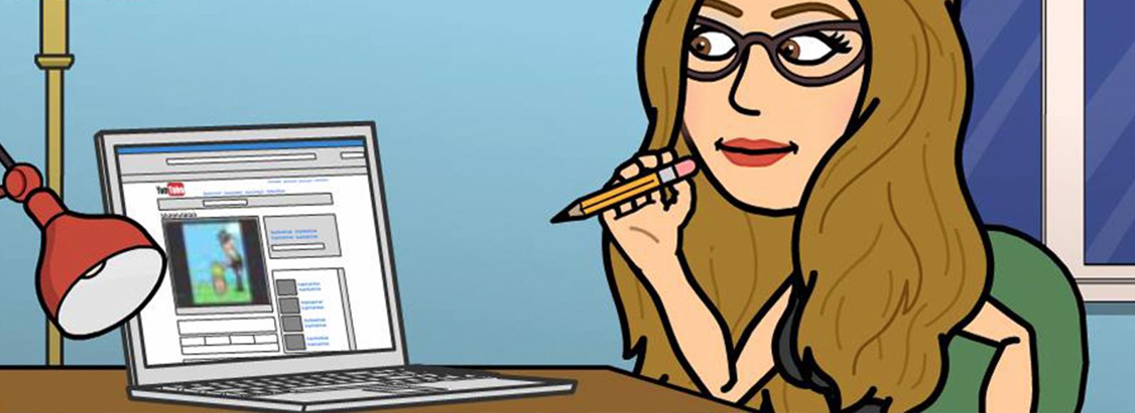 Edith suit des MOOCs
