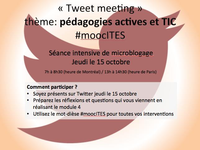 Tweet meeting 15 octobre moocITES