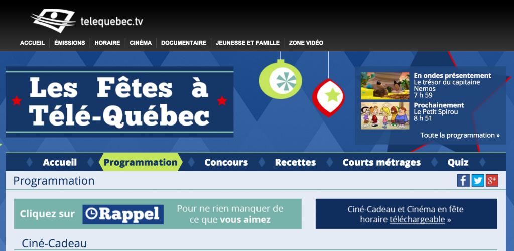Regardez Ciné Cadeau sur Télé-Québec