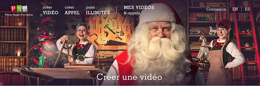 Créez des vidéos avec le Père Noël portable