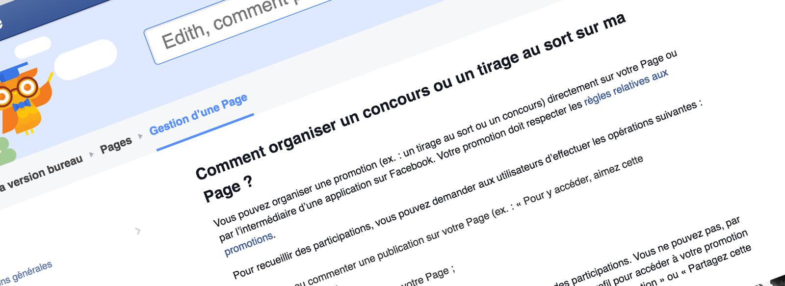 Concours Facebook