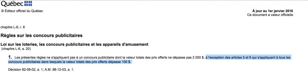 Loi Concours Regie