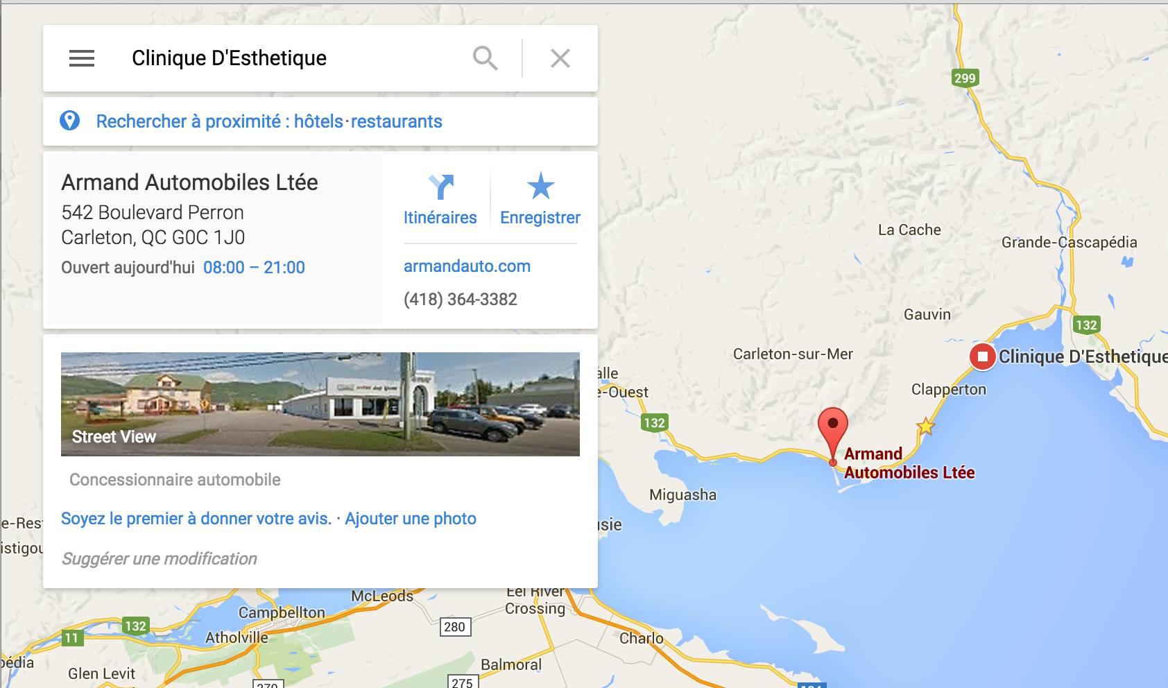 Recherche Esthetique Google