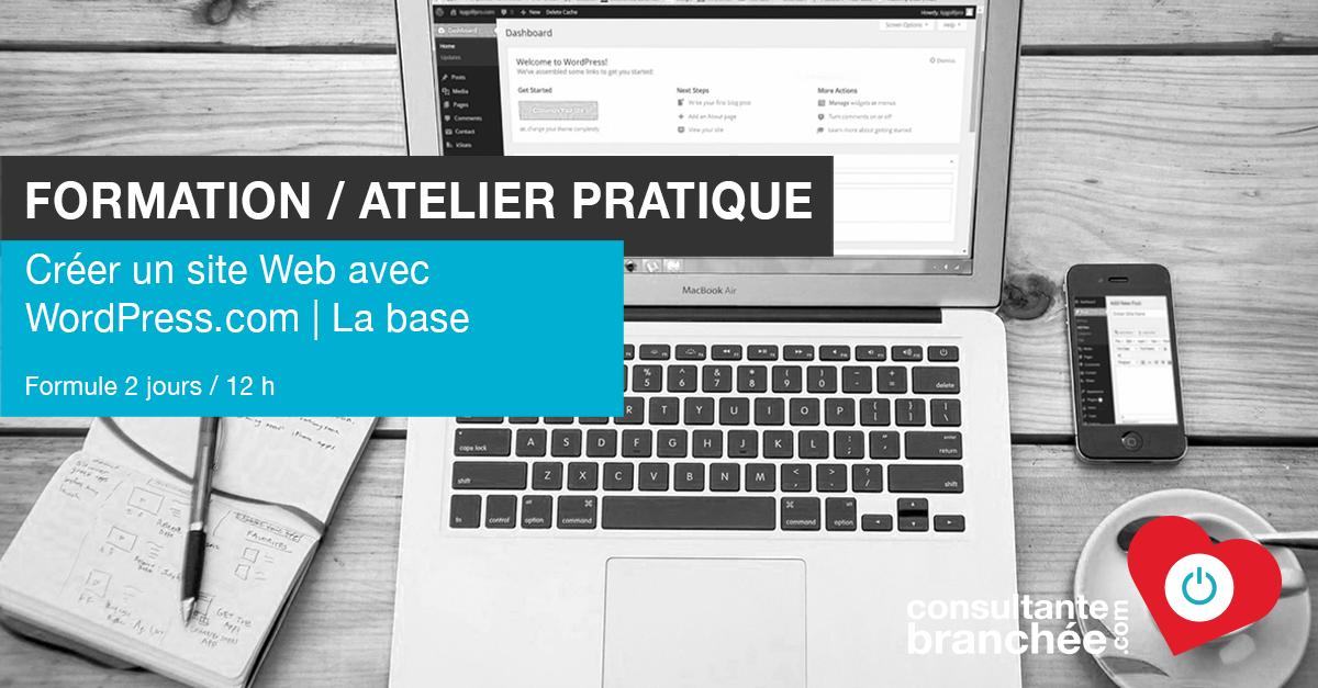Edith Jolicoeur Consultante branchée Formation Aelier WordPress.com 12 h