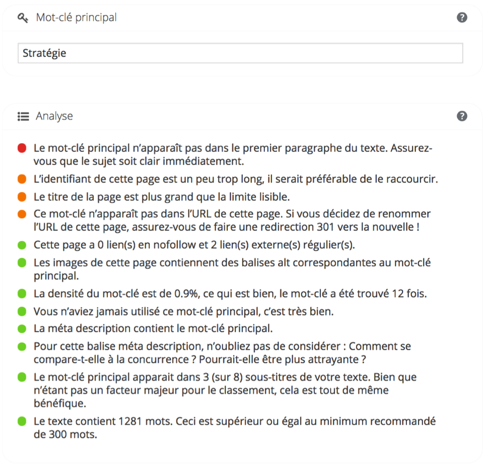 7 Exemple de balises texte Avec Yoast SEO WordPress
