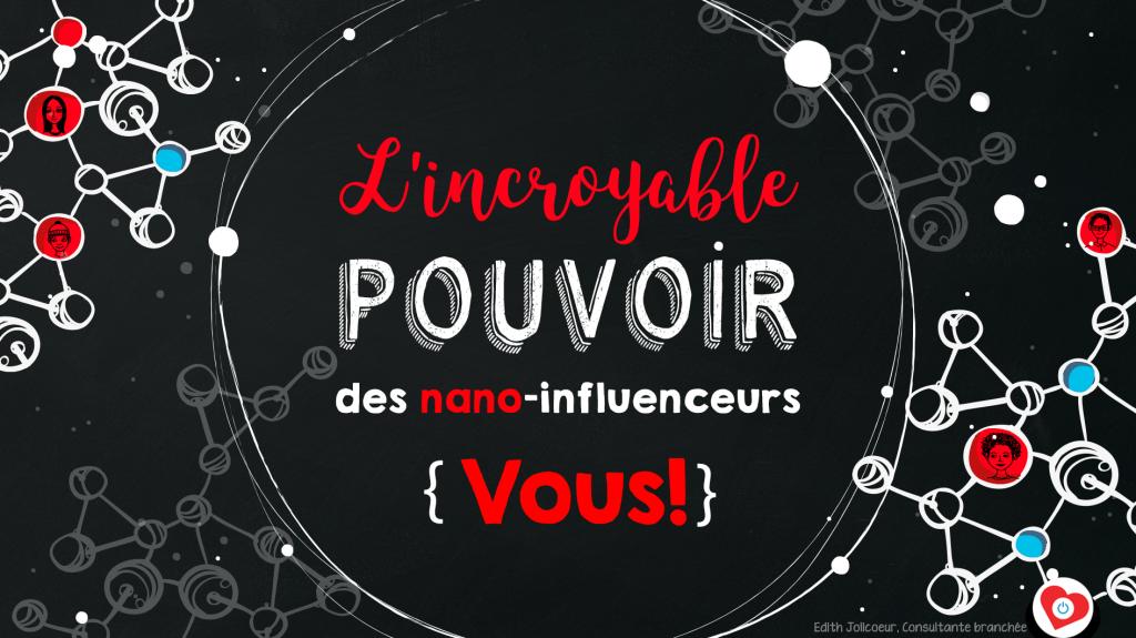 Edith Jolicoeur TEDxQuébec 2017 Intro Incroyable Pouvoir Nano-Influenceurs Algorithme Facebook