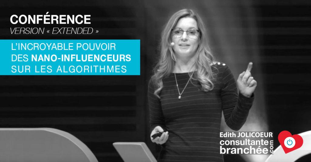 Edith Jolicoeur L'Incroyable pouvoir des NANO-INFLUENCEURS sur l'algorithme de Facebook TEDx
