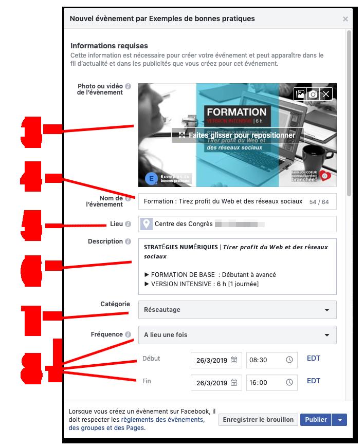Instructions evenements facebook 3 a 8