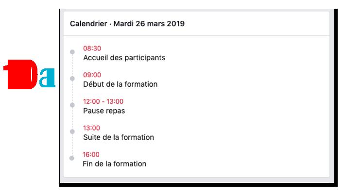 Instructions evenements facebook calendrier resultat 10 a