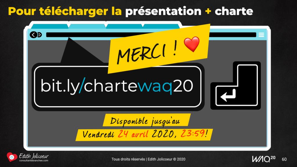 Merci | Charte WAQ 20